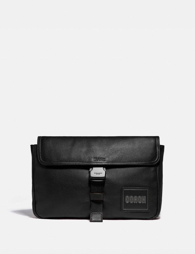 Coach Pacer Belt Bag Crossbody With Coach Patch Black Copper/Black Men Bags Messenger Bags