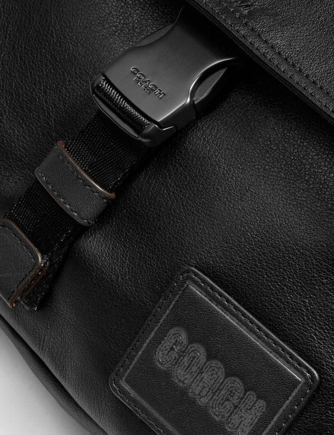 Coach Pacer Belt Bag Crossbody With Coach Patch Black Copper/Black Men Edits Travel Alternate View 4