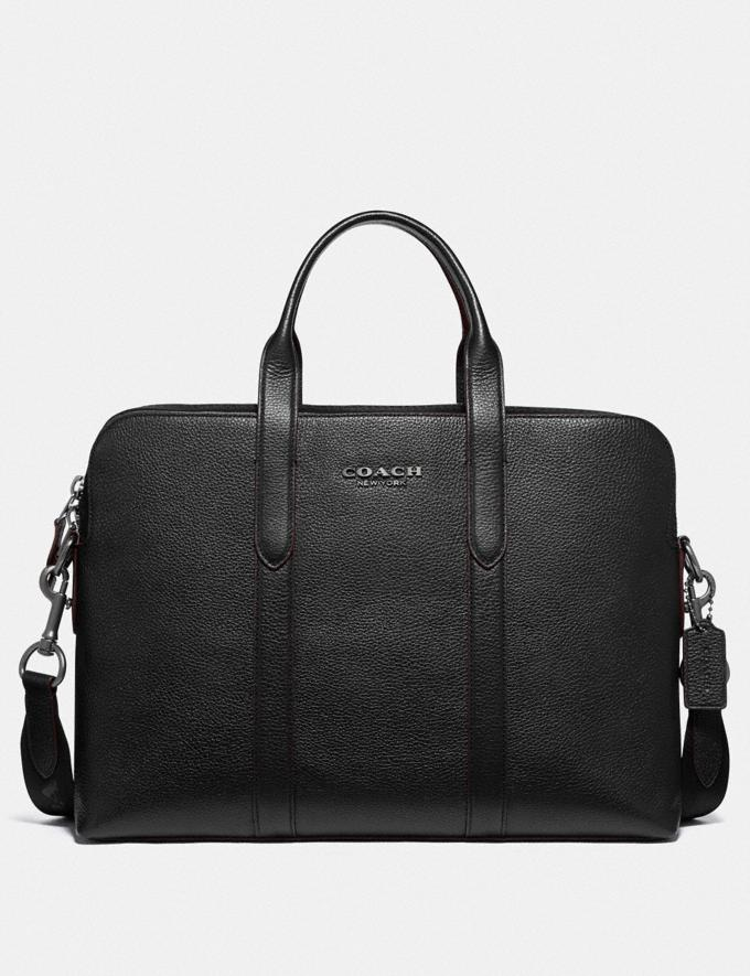 Coach Metropolitan Soft Brief Qb/Black Men Bags Briefcases