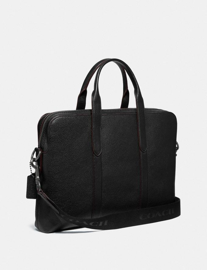 Coach Metropolitan Soft Brief Qb/Black Men Bags Briefcases Alternate View 1