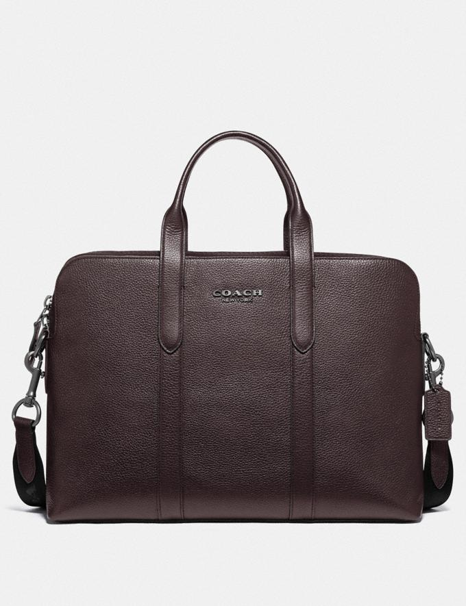 Coach Metropolitan Soft Brief Qb/Oak Men Bags Briefcases