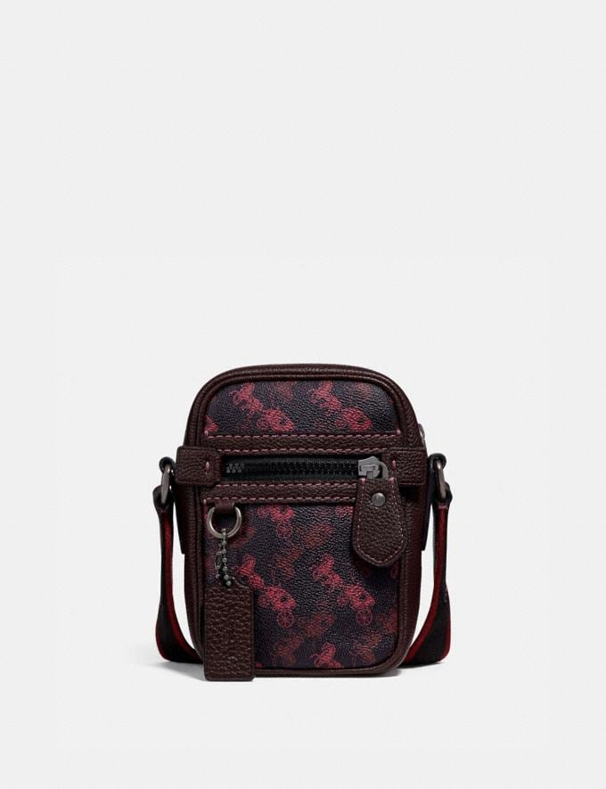 Coach Dylan 10 With Horse and Carriage Print Black Copper/Black Red