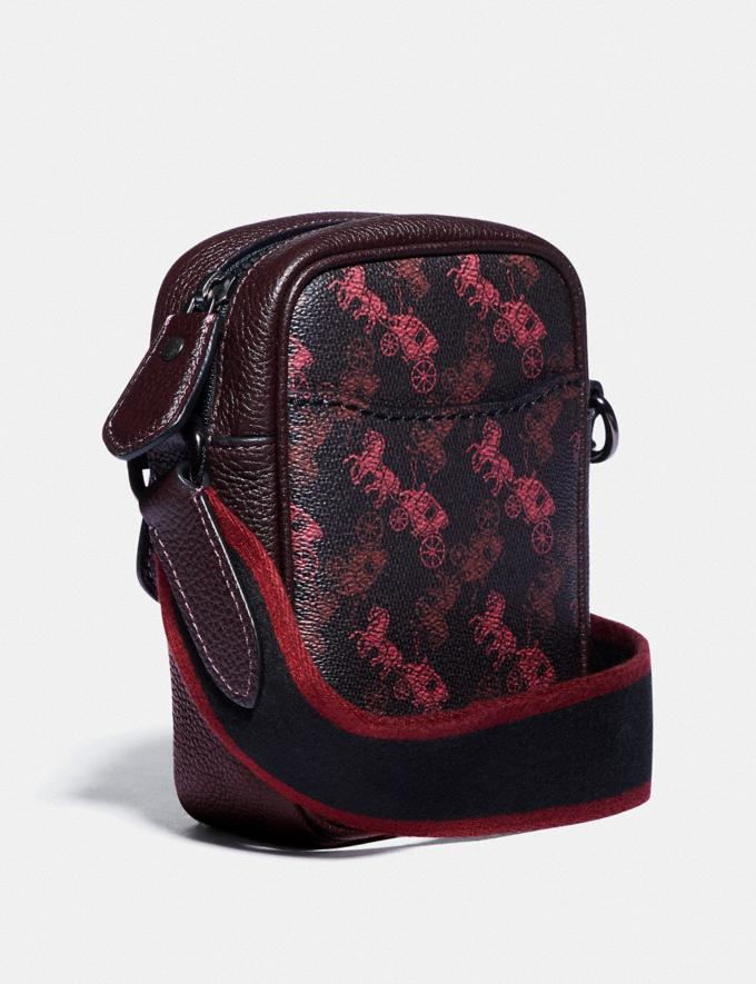 Coach Dylan 10 With Horse and Carriage Print Black Copper/Black Red New Men's New Arrivals Collection Alternate View 1