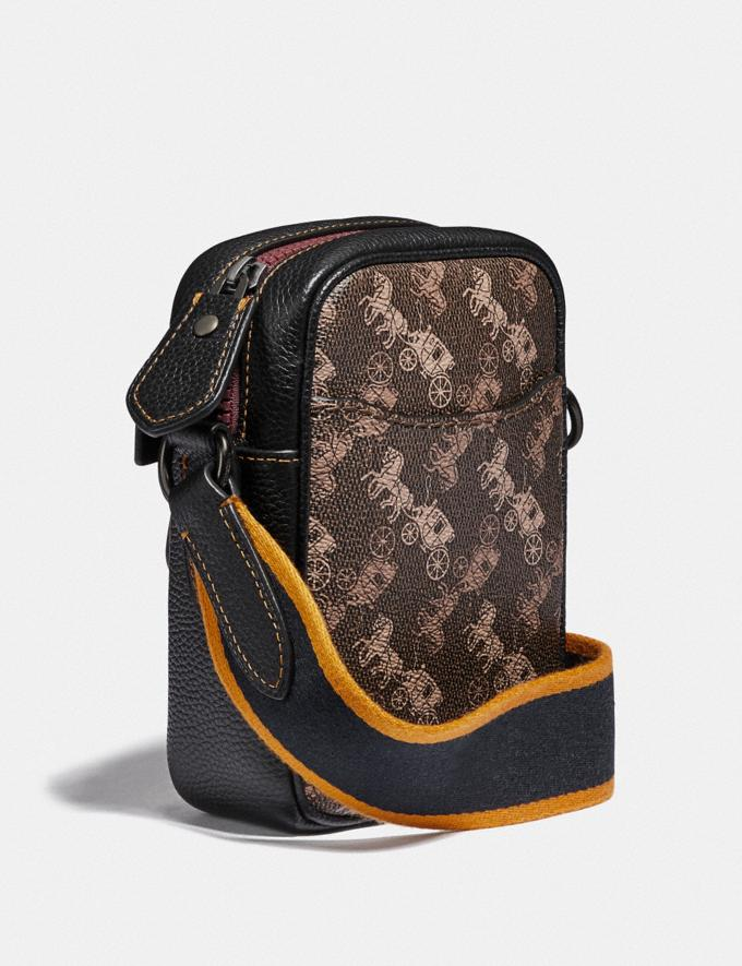 Coach Dylan 10 With Horse and Carriage Print Black Copper/Black Brown Men Bags Messenger Bags Alternate View 1