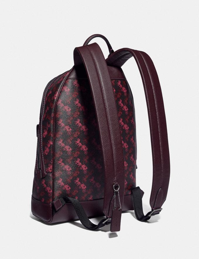 Coach Barrow Backpack With Horse and Carriage Print Black Copper/Black Red Men Bags Backpacks Alternate View 1