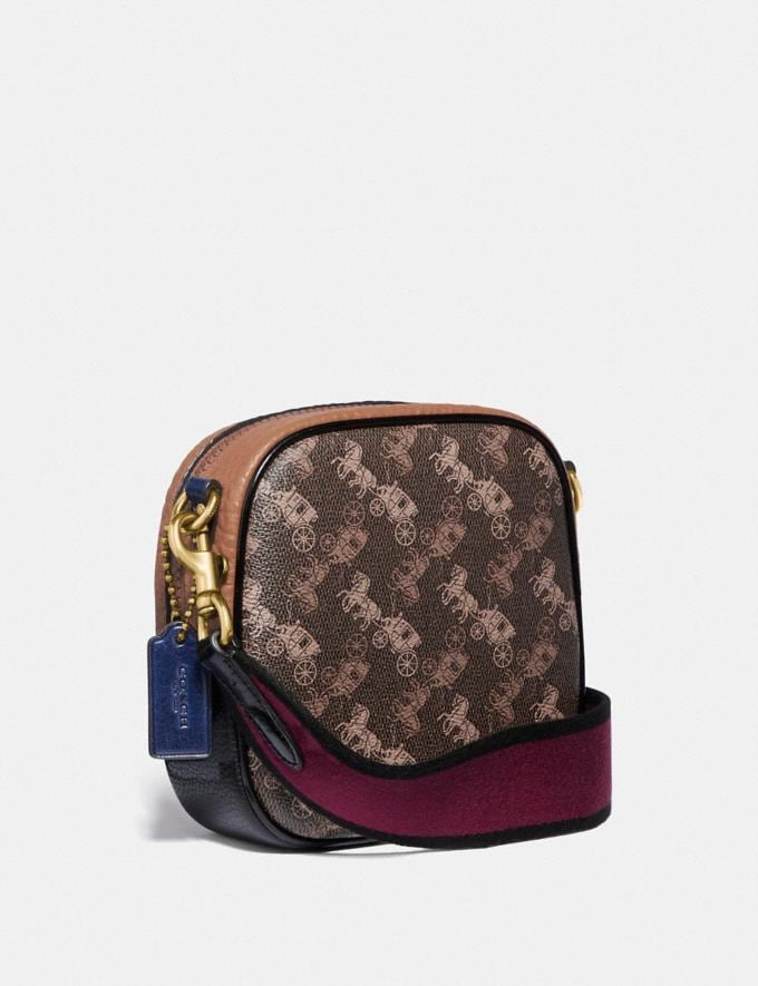 Coach Kat Camera Bag With Colorblock Horse and Carriage Print B4/Brown Black Multi Women Bags Crossbody Bags Alternate View 1