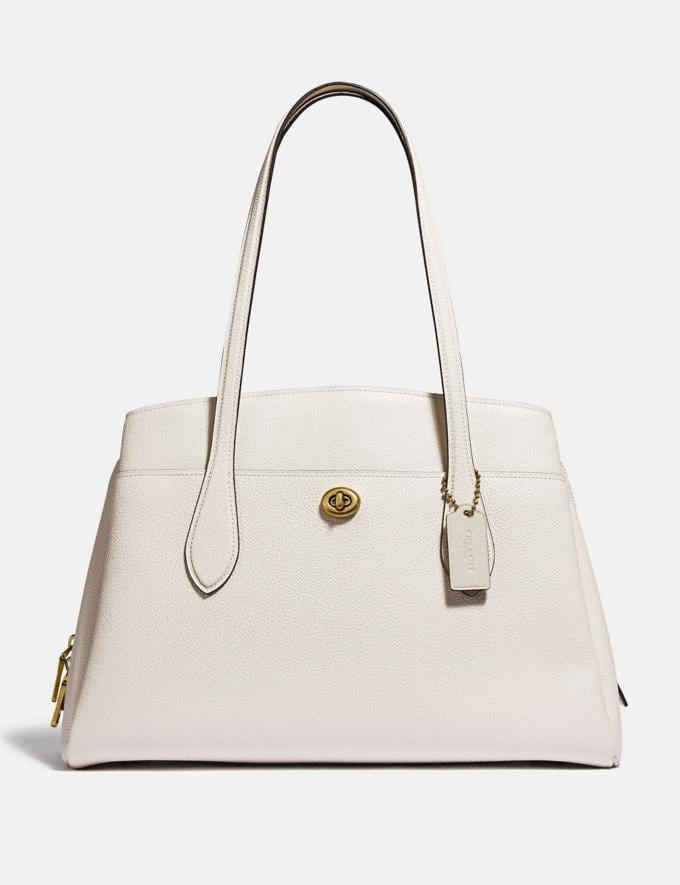 Coach Lora Carryall Brass/Chalk Gifts For Her Under $500