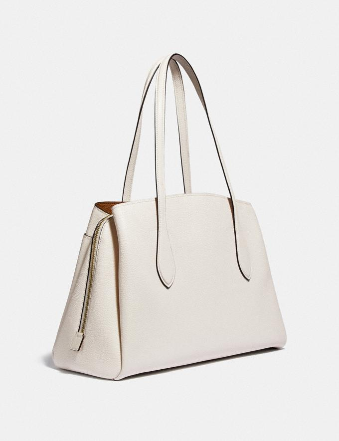 Coach Lora Carryall Brass/Chalk Gifts For Her Under $500 Alternate View 1