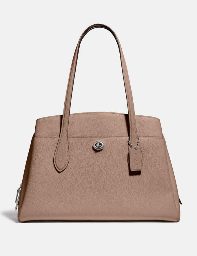 Coach Lora Carryall Light Nickel/Taupe Bags Collection Lora