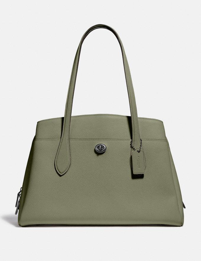 Coach Lora Carryall V5/Light Fern Women Bags Satchels