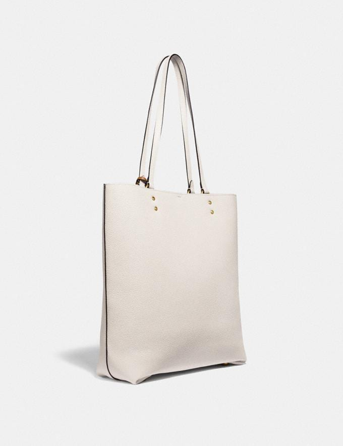 Coach Plaza Tote Brass/Chalk  Alternate View 1