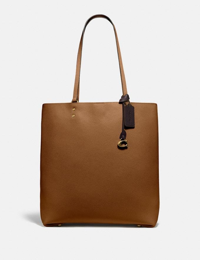 Coach Plaza Tote Brass/Sienna Women Bags Totes