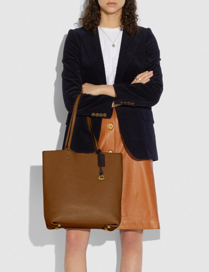 Coach Plaza Tote Brass/Sienna Gifts For Her Under $500 Alternate View 3