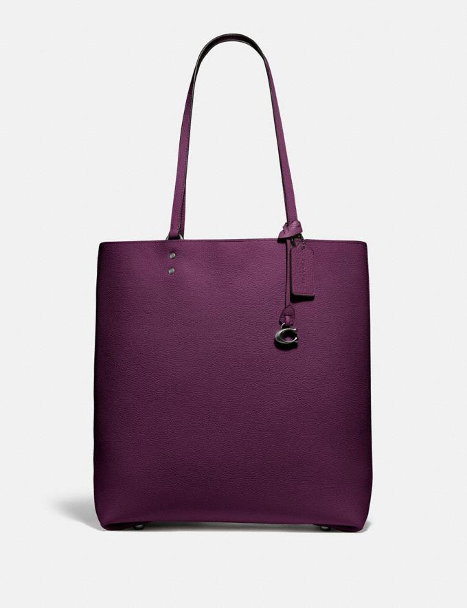 Coach Plaza Tote Pewter/Boysenberry Women Edits Work