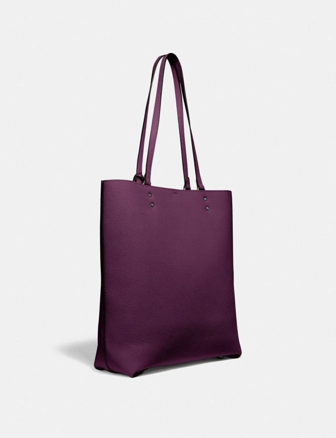 Coach Plaza Tote Pewter/Boysenberry Women Edits Work Alternate View 1