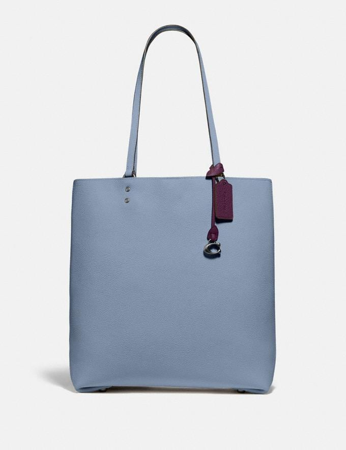 Coach Plaza Tote Pewter/Bluebell SALE Women's Sale