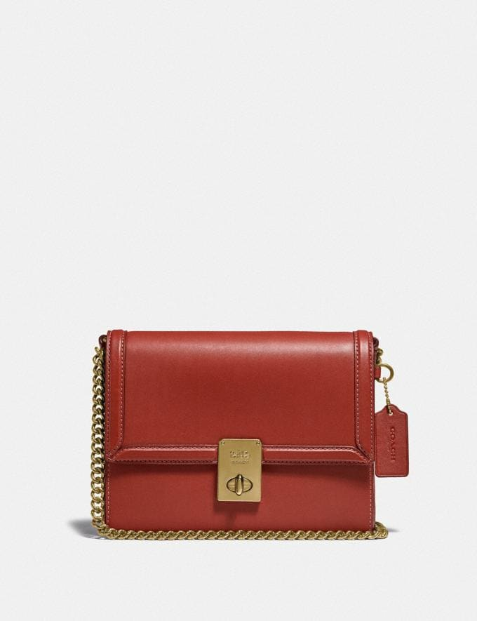 Coach Hutton Shoulder Bag B4/Red Sand Gift For Her Copy of Under €250