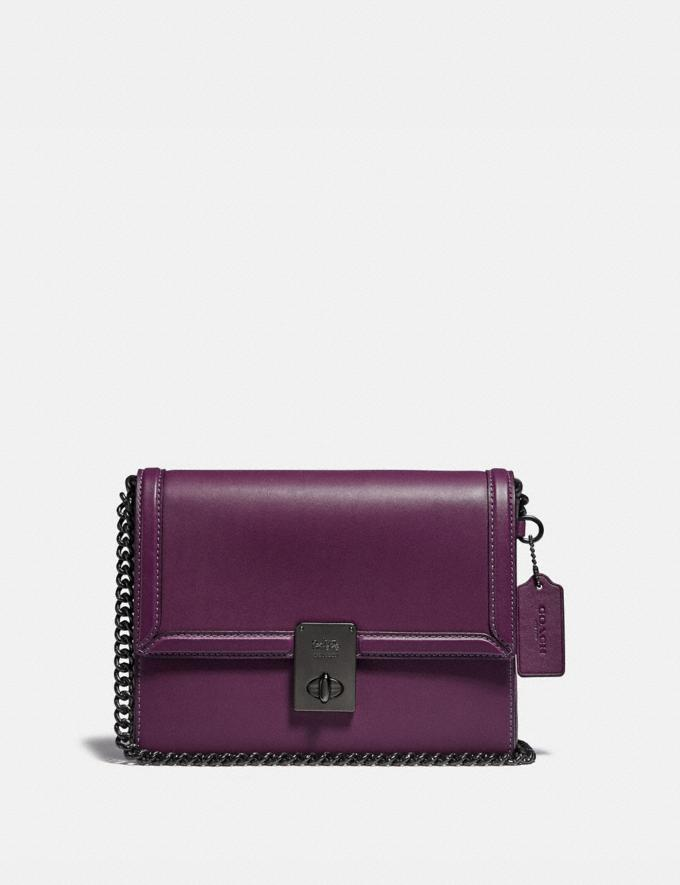 Coach Hutton Shoulder Bag Pewter/Boysenberry Gifts For Her Under $500