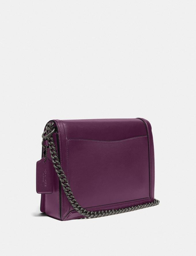 Coach Hutton Shoulder Bag Pewter/Boysenberry Gifts For Her Under $500 Alternate View 1