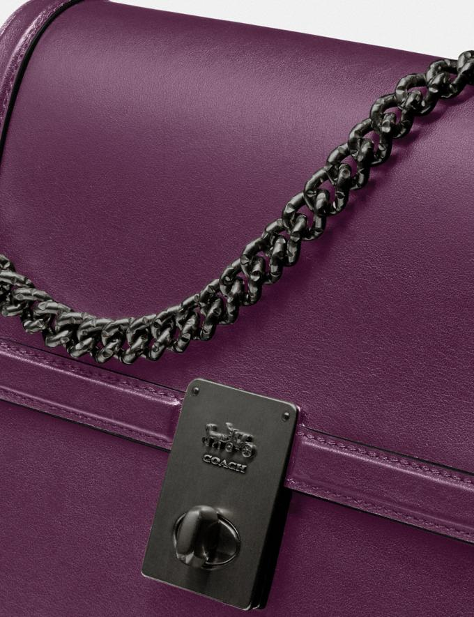 Coach Hutton Shoulder Bag Pewter/Boysenberry Gifts For Her Under $500 Alternate View 6