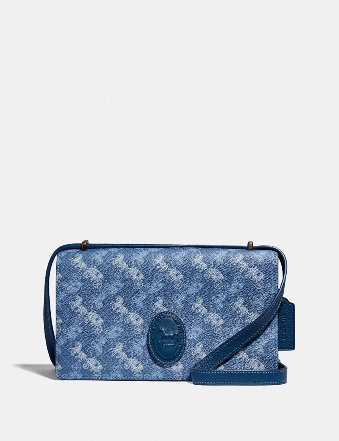 Coach Camille Crossbody With Horse and Carriage Print and Archive Patch V5/Blue True Blue