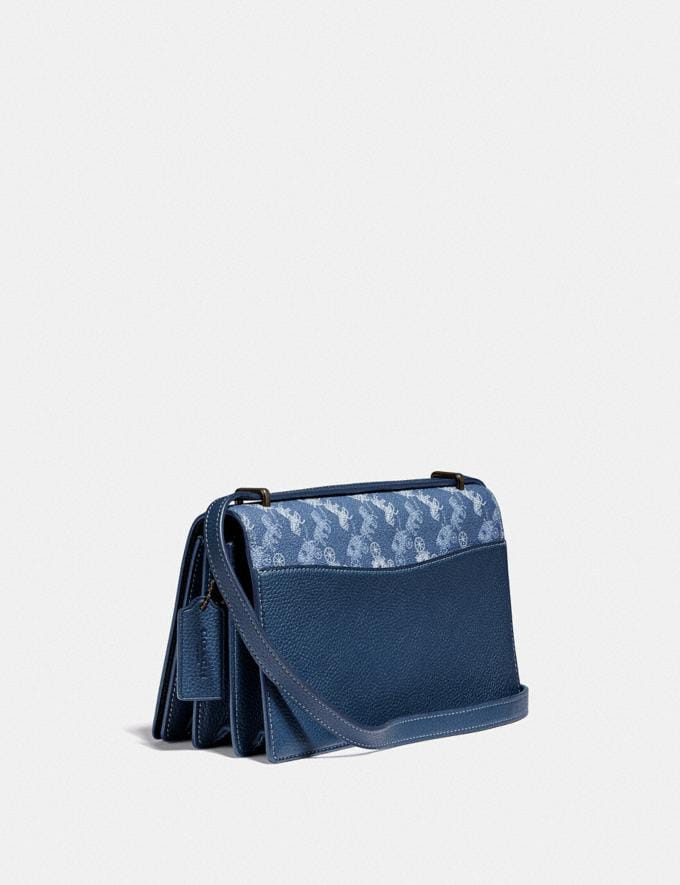 Coach Camille Crossbody With Horse and Carriage Print and Archive Patch V5/Blue True Blue  Alternate View 1