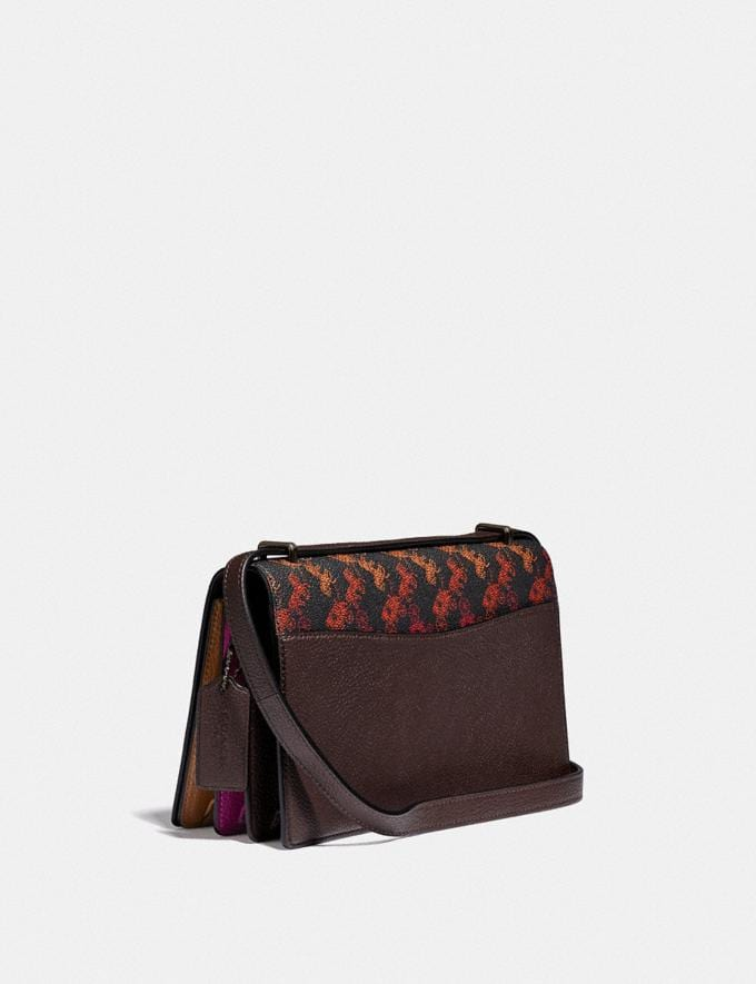 Coach Camille Crossbody With Horse and Carriage Print and Archive Patch Pewter/Multi Black  Alternate View 1
