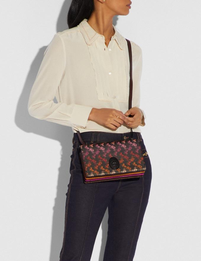 Coach Camille Crossbody With Horse and Carriage Print and Archive Patch Pewter/Multi Black  Alternate View 3