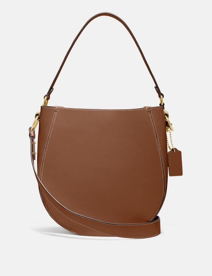 Coach Maddy Hobo Brass/Sienna New Women's New Arrivals
