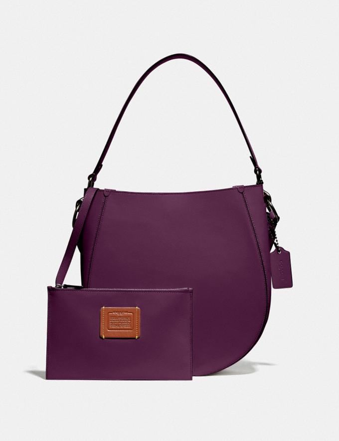 Coach Maddy Hobo Pewter/Boysenberry Women Edits Work Alternate View 4