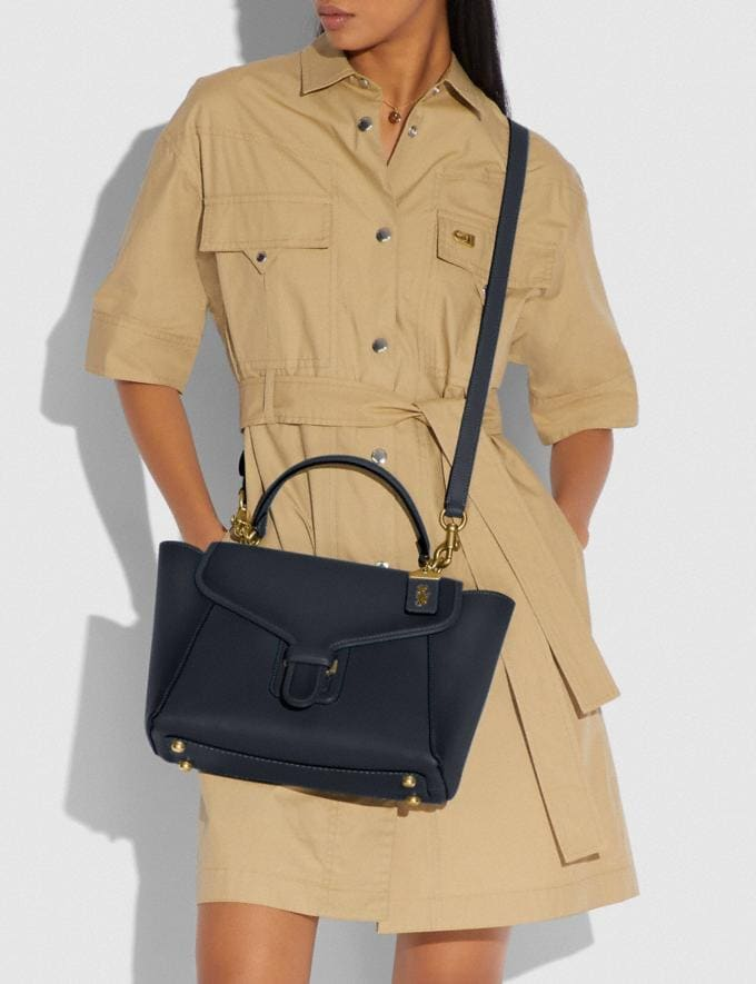 Coach Courier Carryall Brass/Midnight Navy New Women's New Arrivals Collection Alternate View 4