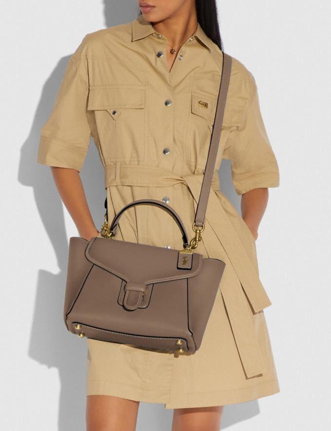 Coach Courier Carryall Brass/Elm Women Handbags Satchels & Top Handles Alternate View 4