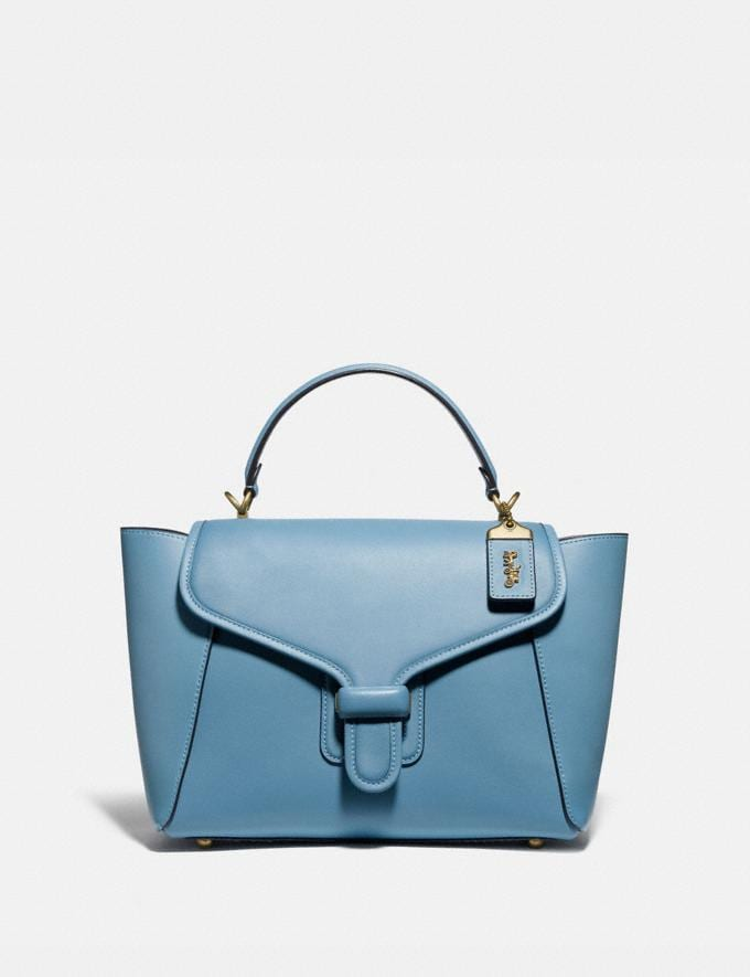 Coach Courier Carryall Brass/Pacific Blue New Featured The Coach Originals
