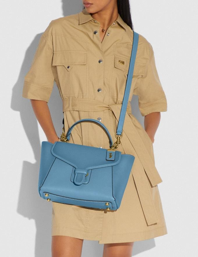 Coach Courier Carryall Brass/Pacific Blue New Featured The Coach Originals Alternate View 4