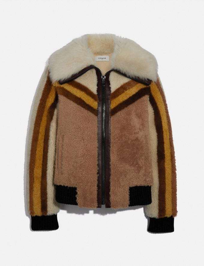 Coach Shearling Bomber Jacket Carub New Women's New Arrivals