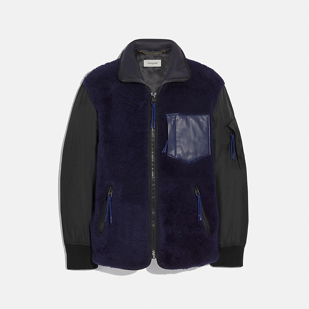 Shearling Ma 1 Jacket by Coach