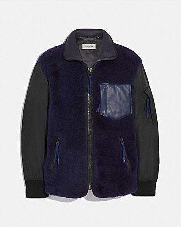 shearling ma-1 jacket