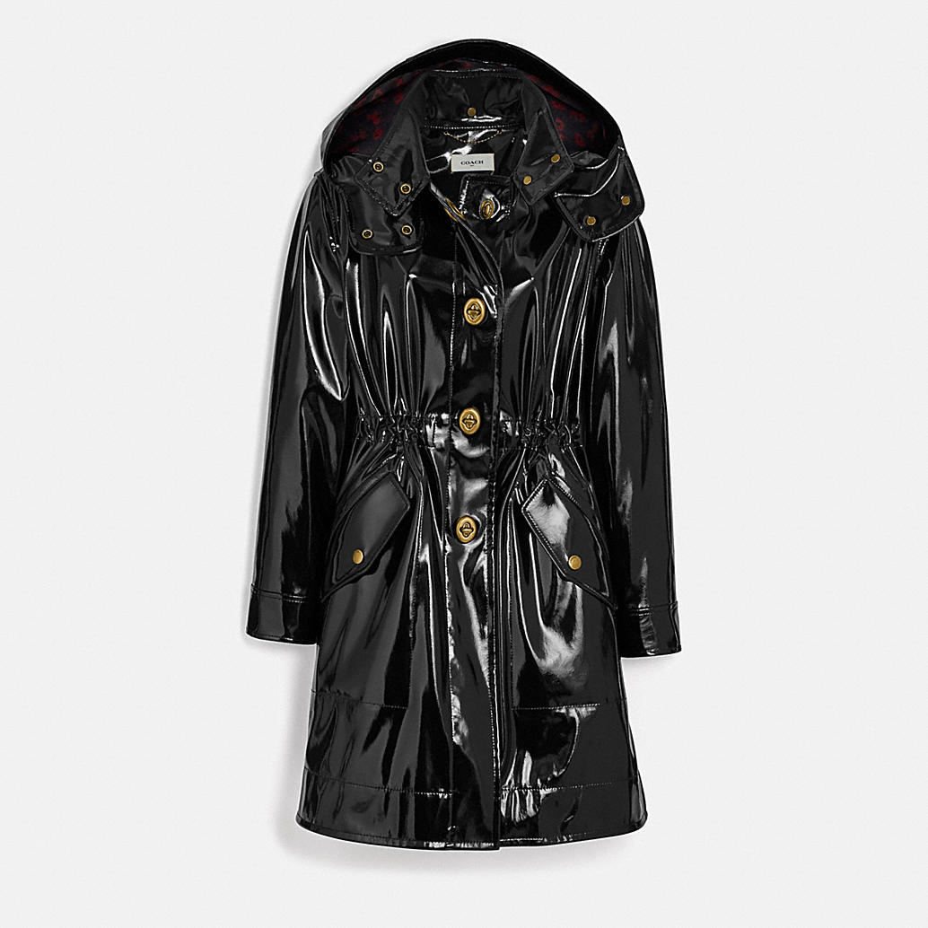 Raincoat With Horse And Carriage Print Lining by Coach