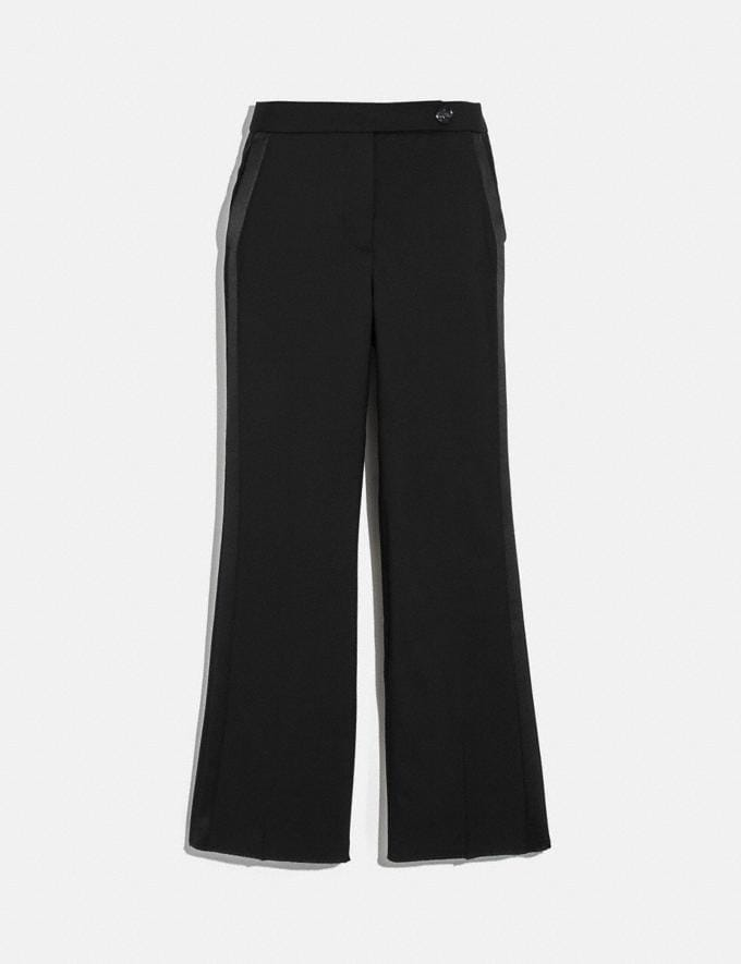 Coach Tuxedo Flare Trousers Black New Women's New Arrivals