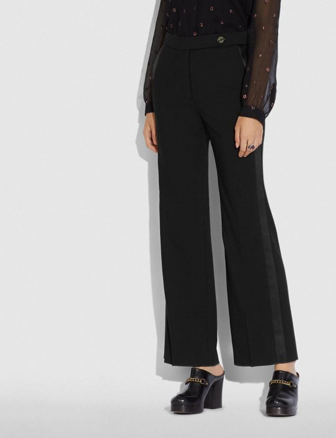 Coach Tuxedo Flare Trousers Black New Women's New Arrivals Alternate View 1