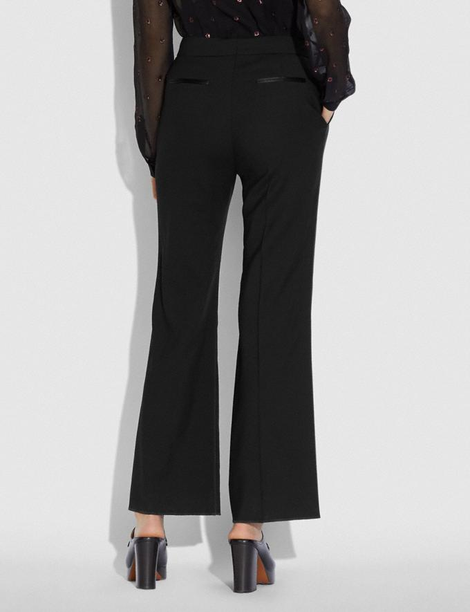 Coach Tuxedo Flare Trousers Black New Women's New Arrivals Alternate View 2