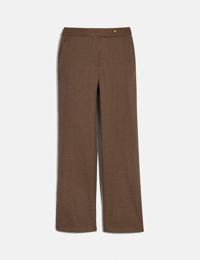 Coach Check Trousers Brown