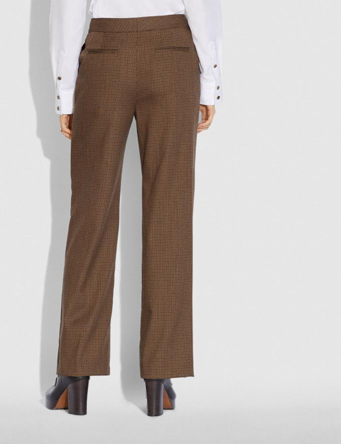 Coach Check Trousers Brown  Alternate View 2