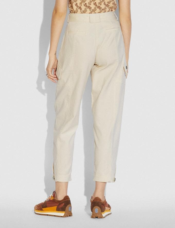 Coach Corduroy Utility Trousers Cream New Women's New Arrivals Alternate View 2