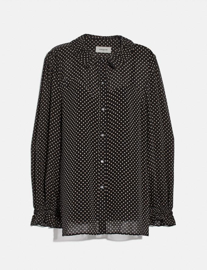 Coach Dot Georgette Blouse Black New Women's New Arrivals