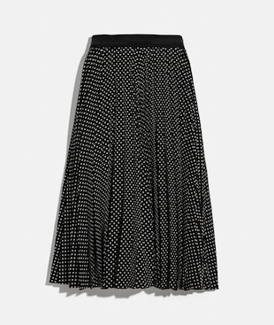 MICRO DOT PLEATED SKIRT