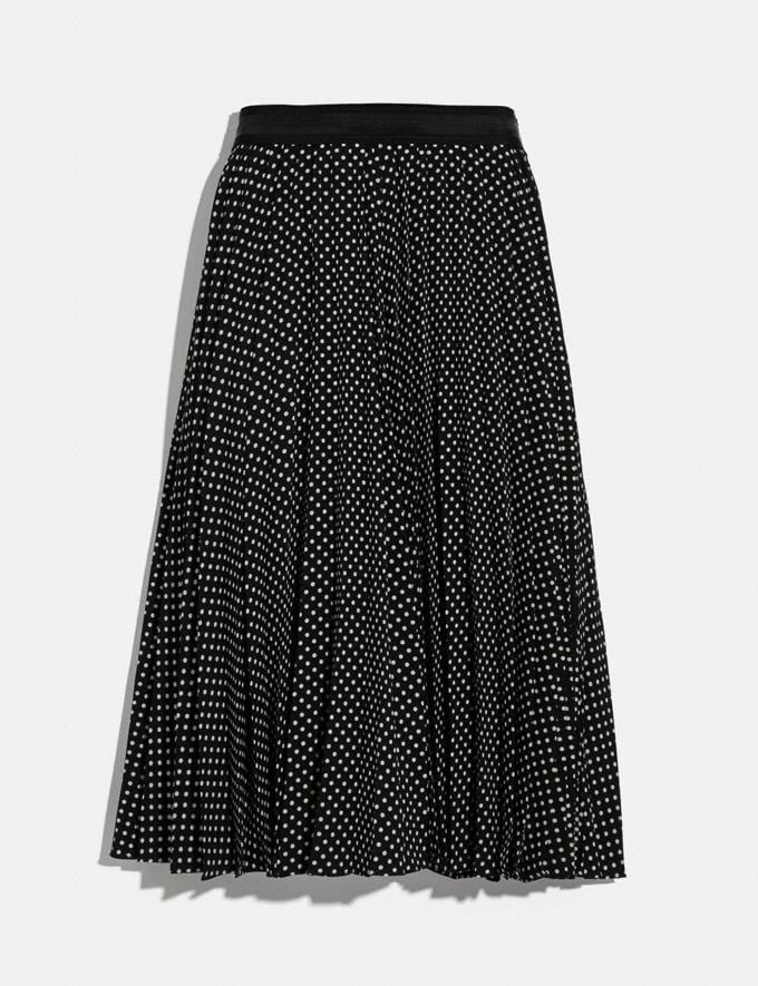 Coach Micro Dot Pleated Skirt Black