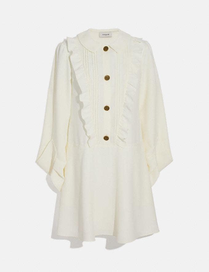 Coach Ruffle Bib Dress Cream