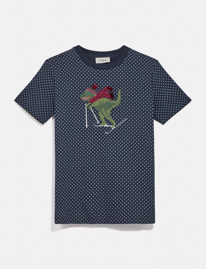 Coach Rexy Dot T-Shirt Blue Women Ready-to-Wear Tops & T-shirts