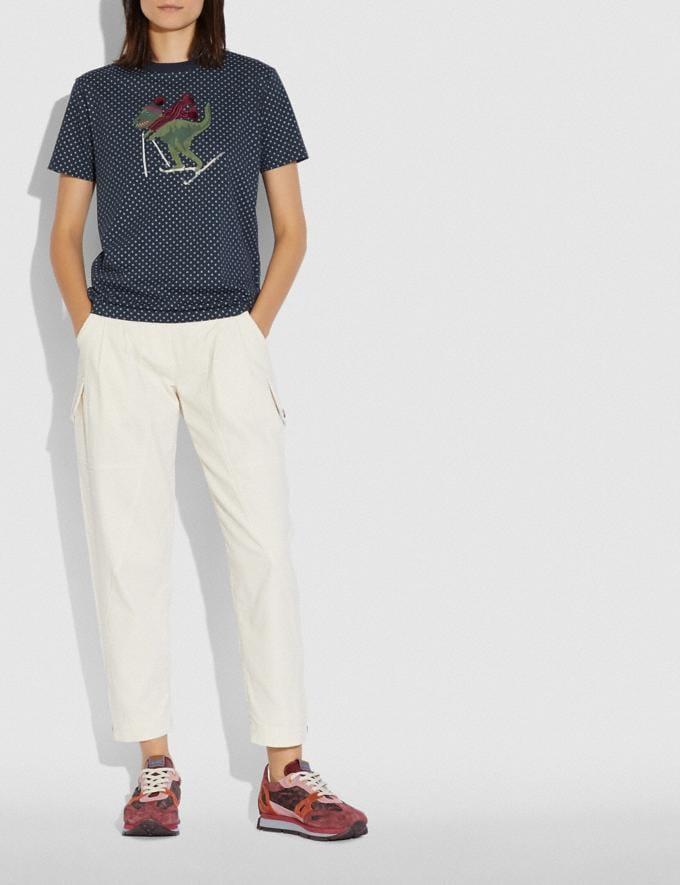 Coach Rexy Dot T-Shirt Blue Women Ready-to-Wear Tops & T-shirts Alternate View 1